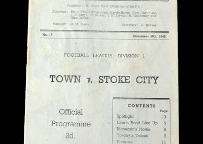 Stoke v Huddersfield 30.11.1946