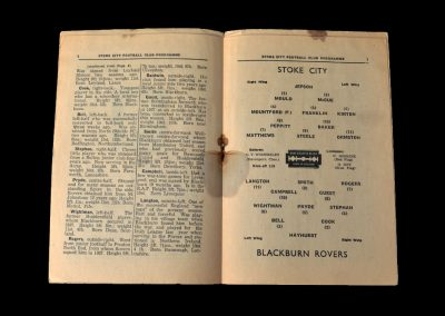Stoke v Blackburn 21.12.1946