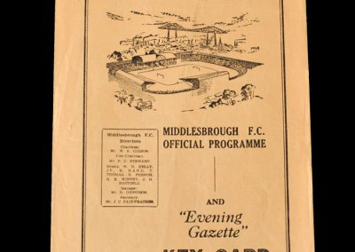 Middlesbrough Reserves v Hartlepool Reserves 02.04.1955