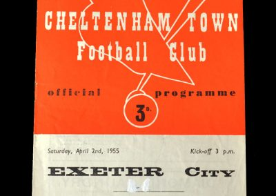 Cheltenham Town v Exeter City Reserves 02.04.1955