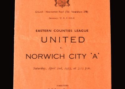 Cambridge Utd v Norwich A 02.04.1955