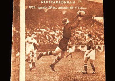 Hungary v Yugoslavia 29.04.1956 - 2-2