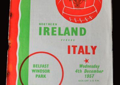 Northern Ireland v Italy 04.12.1957