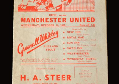 Man Utd v Rhyl 14.10.1959