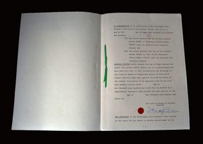 Stan Cullis Letter c1970