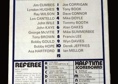 Man City v West Brom 02.10.1971