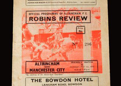 Man City v Altrincham 01.05.1972
