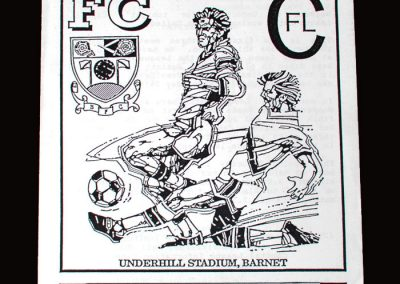 Barnet v Sutton 12.02.1992 - Capital League