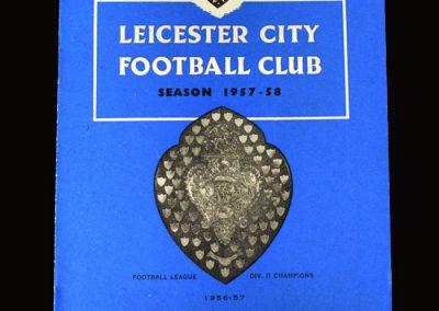 Man Utd v Leicester 24.08.1957