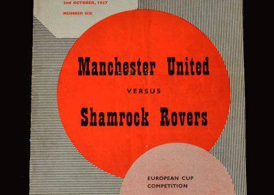 Man Utd v Shamrock Rovers 02.10.1957 - European Cup 1st Round 2nd Leg
