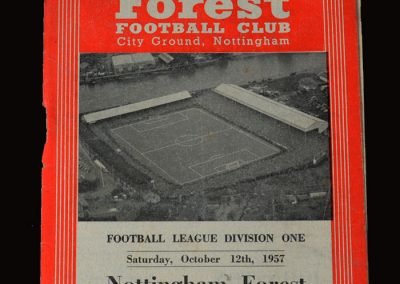 Man Utd v Notts Forest 12.10.1957
