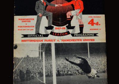 Man Utd v Portsmouth 19.10.1957