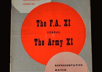 FA 11 v The Army 11 30.10.1957