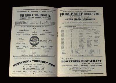 Man Utd v Preston 09.11.1957