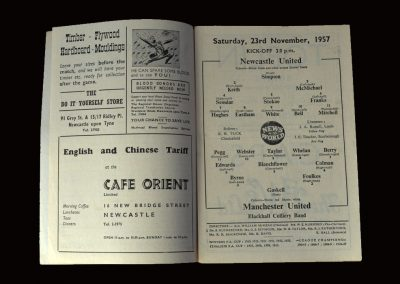 Man Utd v Newcastle 23.11.1957