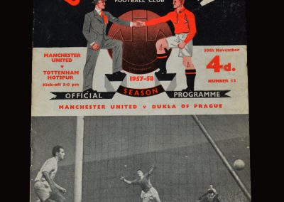 Man Utd v Spurs 30.11.1957