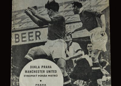 Man Utd v Dukla Prague 04.12.1957