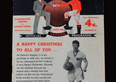 Man Utd v Luton 25.12.1957