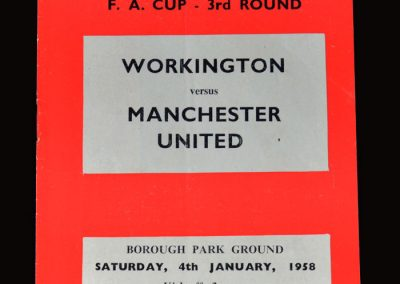 Man Utd v Workington 04.01.1958 - FA Cup 3rd Round
