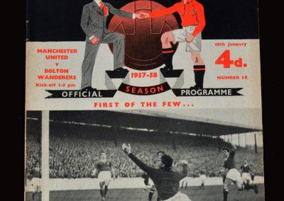 Man Utd v Bolton 18.01.1958