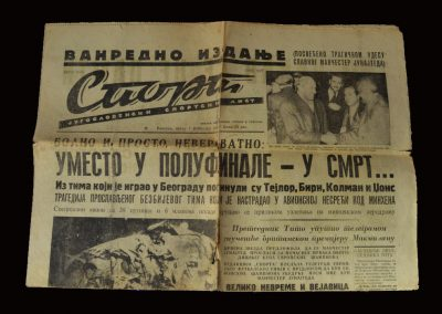 Yugoslavian Newspaper Report on the Crash 07.02.1958