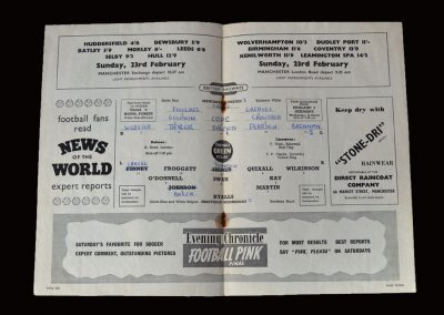 Man Utd v Sheff Wed 19.02.1958 - FA Cup 5th Round