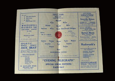 Man Utd v Burnley 15.03.1958