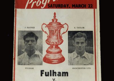 Man Utd v Fulham 22.03.1958 - FA Cup Semi Final