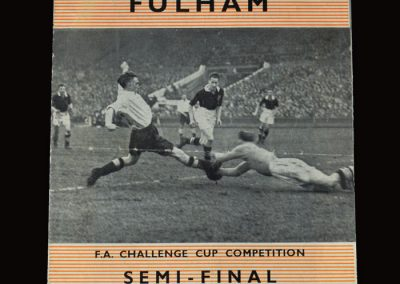 Man Utd v Fulham 26.03.1958 - FA Cup Semi Final Replay