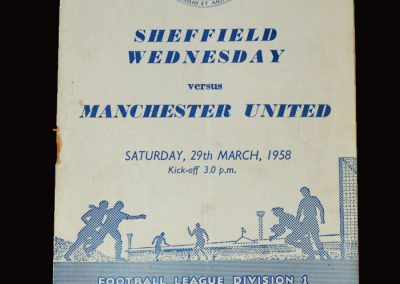 Man Utd v Sheff Wed 29.03.1958