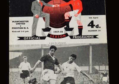 Man Utd v Preston 05.04.1958