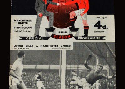 Man Utd v Birmingham 19.04.1958