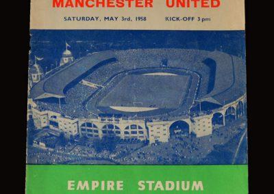 Man Utd v Bolton 03.05.1958 - FA Cup Final