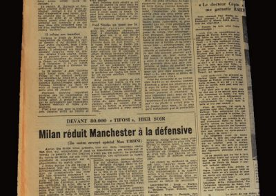 Man Utd v A.C.Milan 14.05.1958 - European Cup Semi Final 2nd Leg