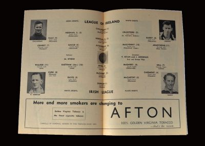 "League of Ireland v Irish League 17.03.1955 (another ""cap"" for Jimmy)"
