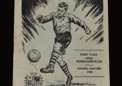 Port Vale v Middlesbrough 28..04.1956 (Ugolini successful with a treble)