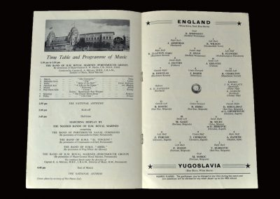 England v Yugoslavia 11.05.1960 (1st of 19 caps for peter)