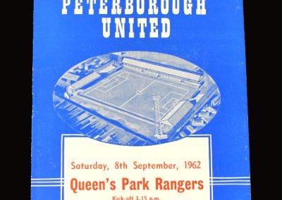 Peterborough v QPR 08.09.1962 (by this time Dick had signed for the posh and an error strewn performance features at count 3 in the 2nd indictment)