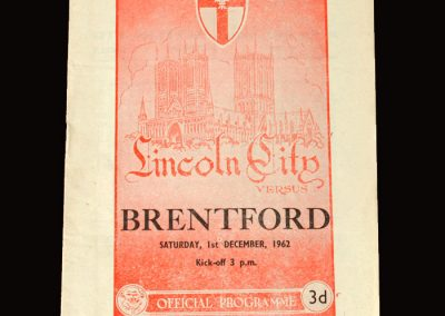 Lincoln v Brentford 01.12.1962 (referred to in Peter's book)