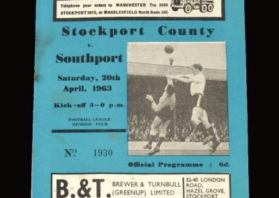 Stockport v Southport 20.04.1963