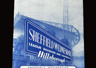 Sheff Wed v Arsenal 30.03.1964 (the calm before the storm)