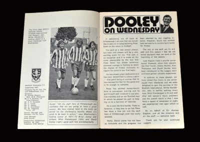 Sheff Wed v Fulham 12.08.1972 (bans lifted and a return to league action for Peter)