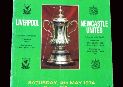 Liverpool v Newcastle 04.05.1974 - FA Cup Final