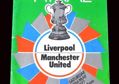 Man Utd v Liverpool 21.05.1977 - FA Cup Final