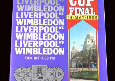 Wimbledon v Liverpool 14.05.1988 - FA Cup Final