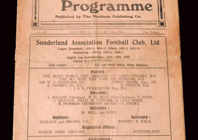 Sunderland v Chatham 10.01.1914 - FA Cup 1st Round