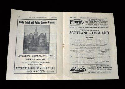 England v Scotland 08.04.1922