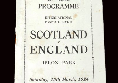 Scottish League v English League 15.03.1924