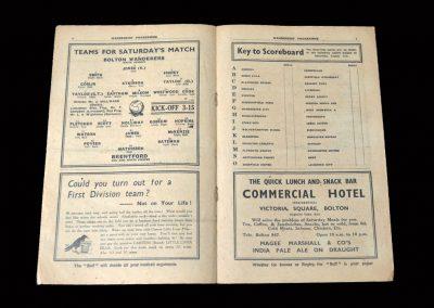 Bolton v Brentford 31.08.1935   Bolton v Sheff Wed 02.09.1935