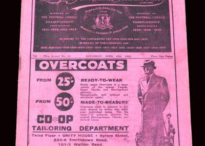 Liverpool v Brentford 18.04.1936